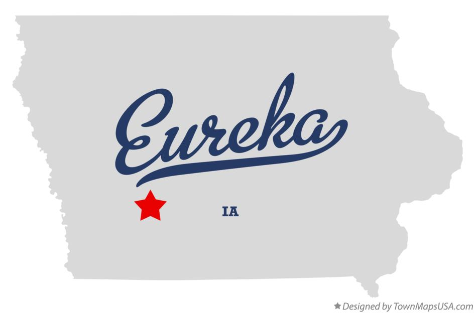 Map of Eureka Iowa IA