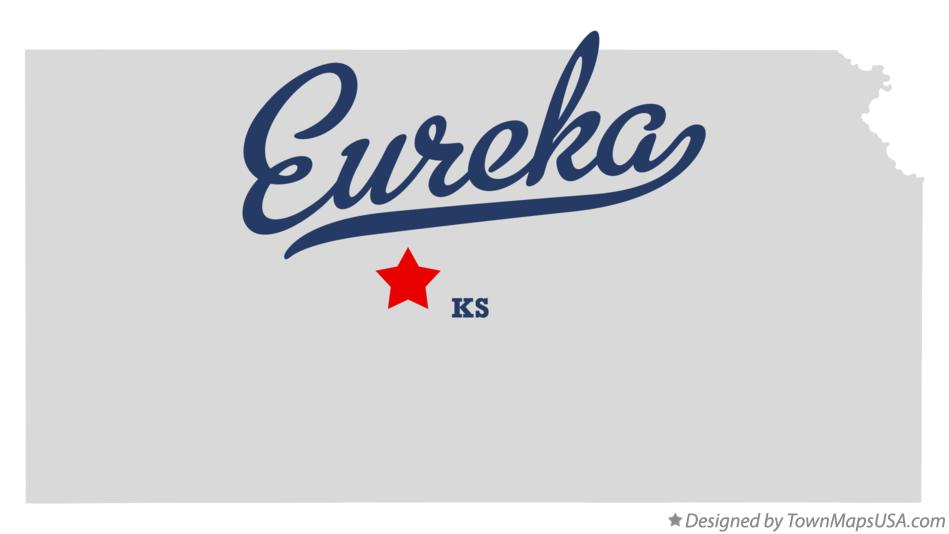 Map of Eureka Kansas KS