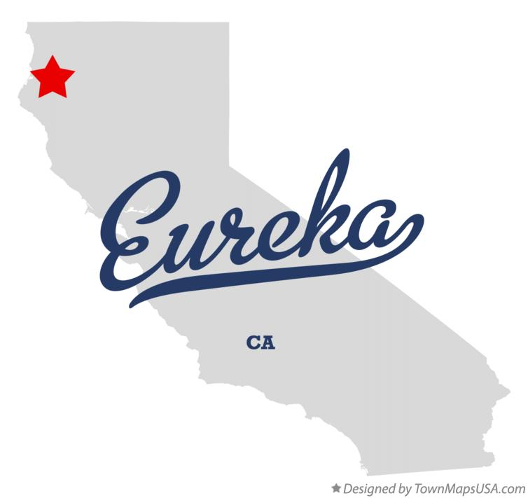 Map of Eureka California CA