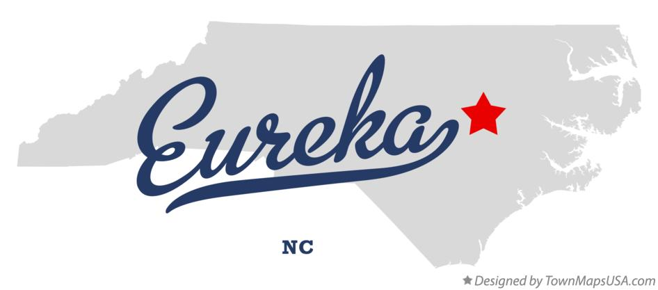 Map of Eureka North Carolina NC