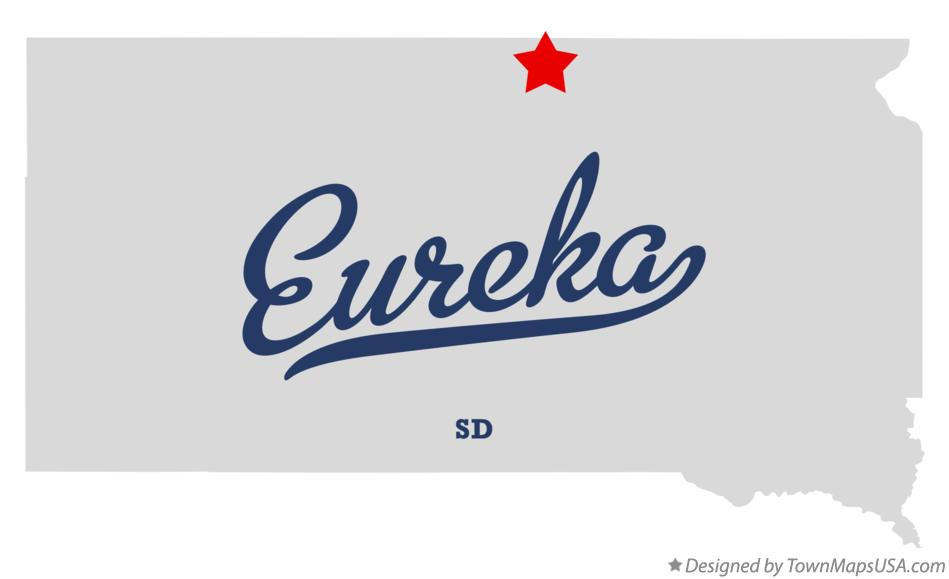 Map of Eureka South Dakota SD