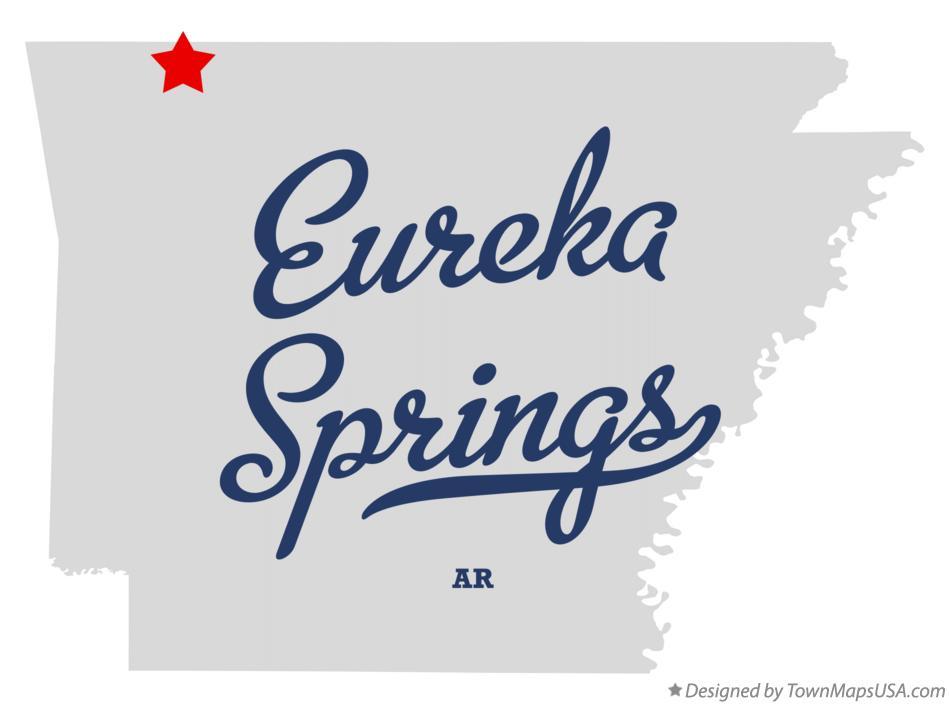 Map Of Eureka Springs Ar Arkansas