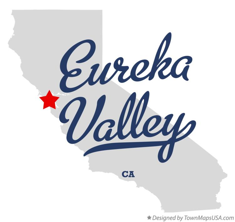 Map of Eureka Valley California CA