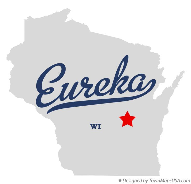 Map of Eureka Wisconsin WI