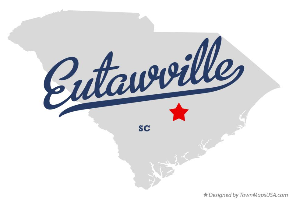 Map of Eutawville South Carolina SC
