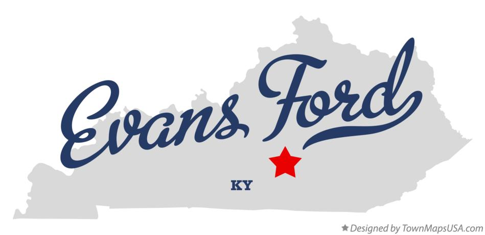 Map of Evans Ford Kentucky KY