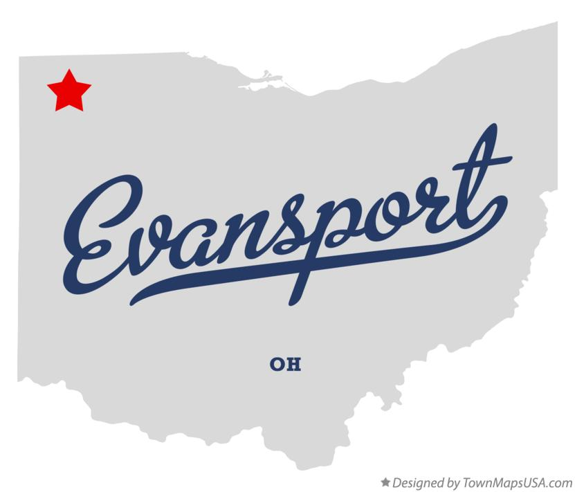 Map of Evansport Ohio OH