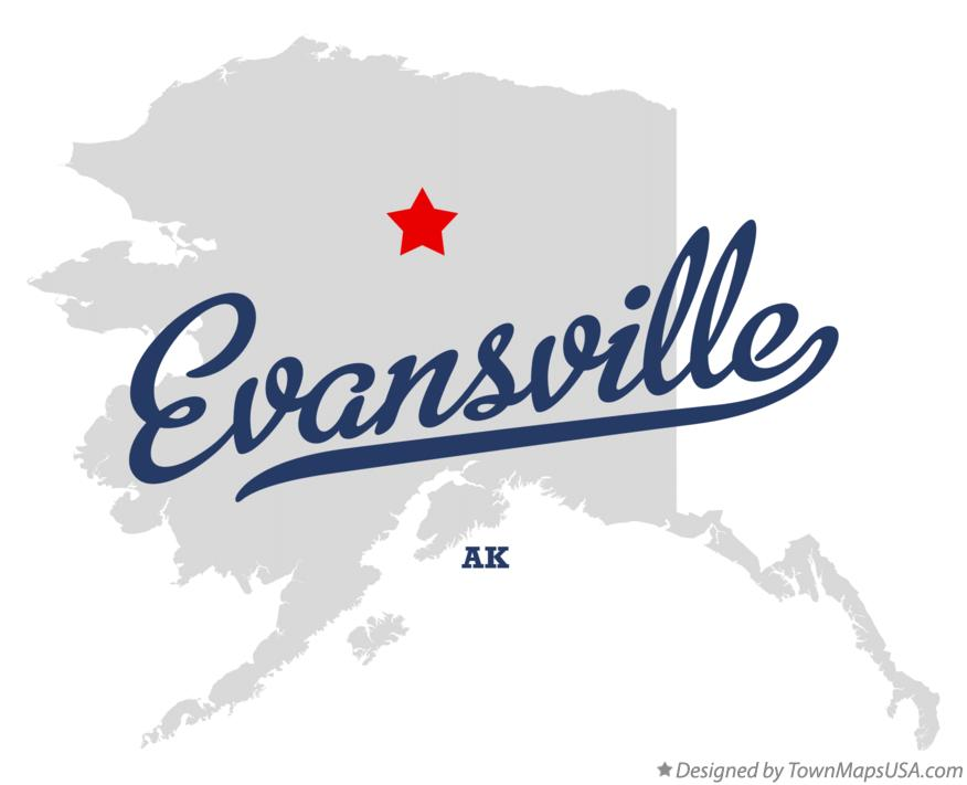 Map of Evansville Alaska AK