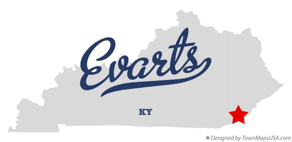 Map of Evarts Kentucky KY