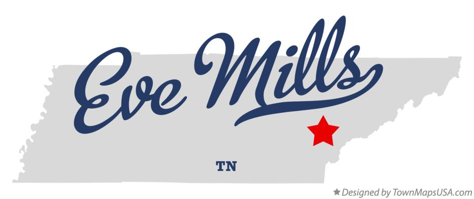Map of Eve Mills Tennessee TN