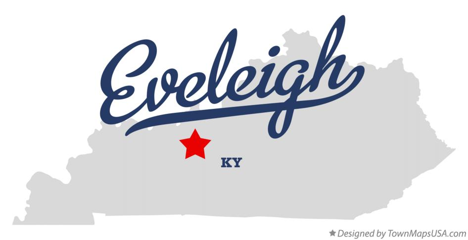 Map of Eveleigh Kentucky KY