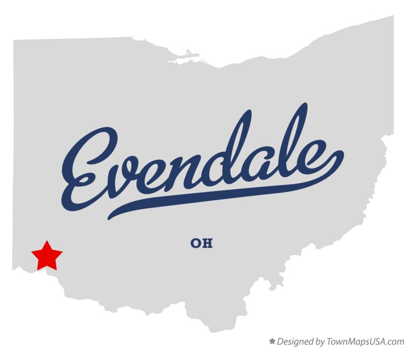 Map of Evendale Ohio OH