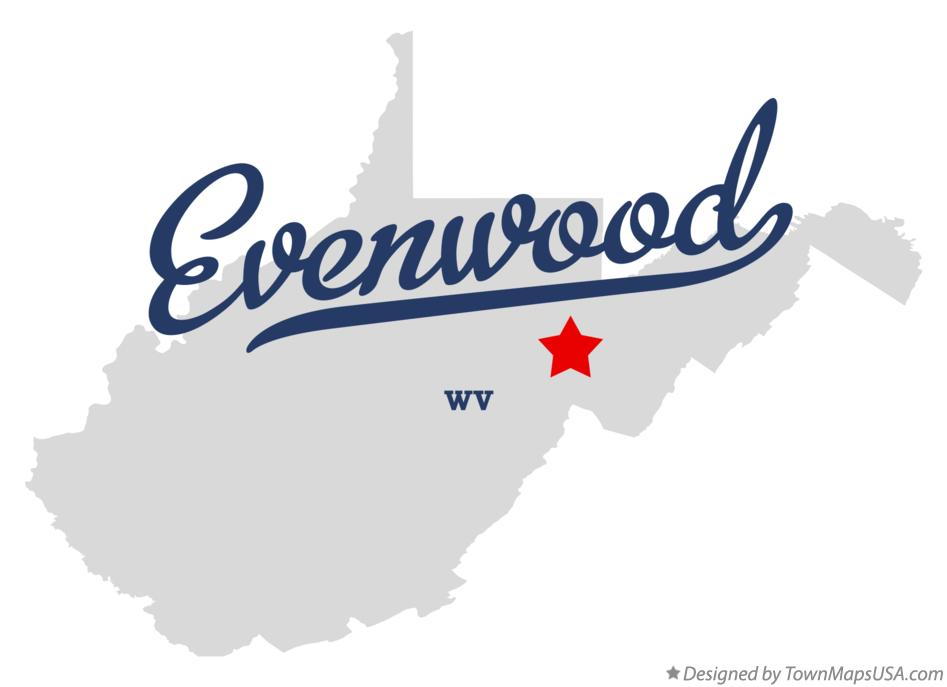 Map of Evenwood West Virginia WV