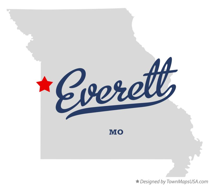 Map of Everett Missouri MO