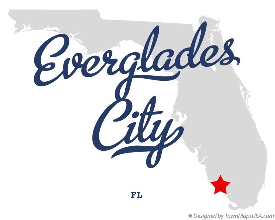 Map of Everglades City FL Florida