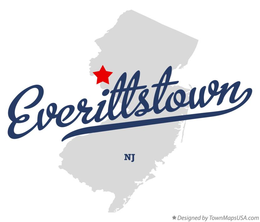 Map of Everittstown New Jersey NJ
