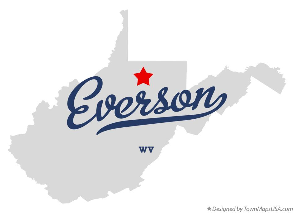 Map of Everson West Virginia WV