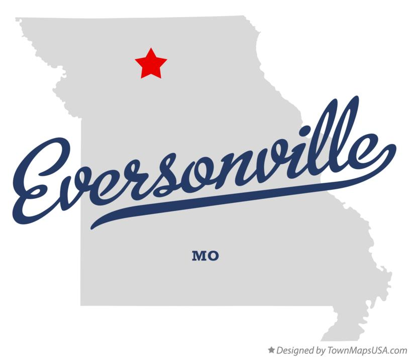 Map of Eversonville Missouri MO
