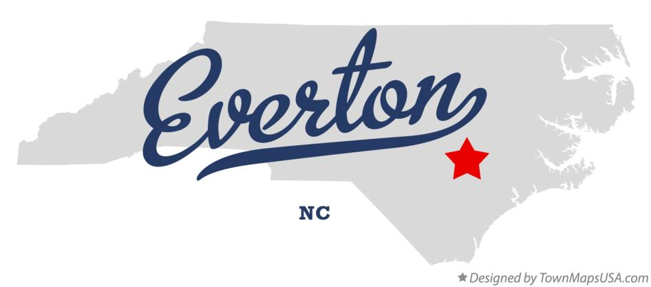 Map of Everton North Carolina NC