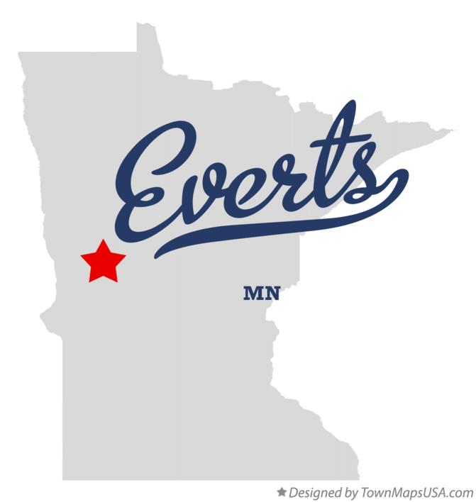 Map of Everts Minnesota MN