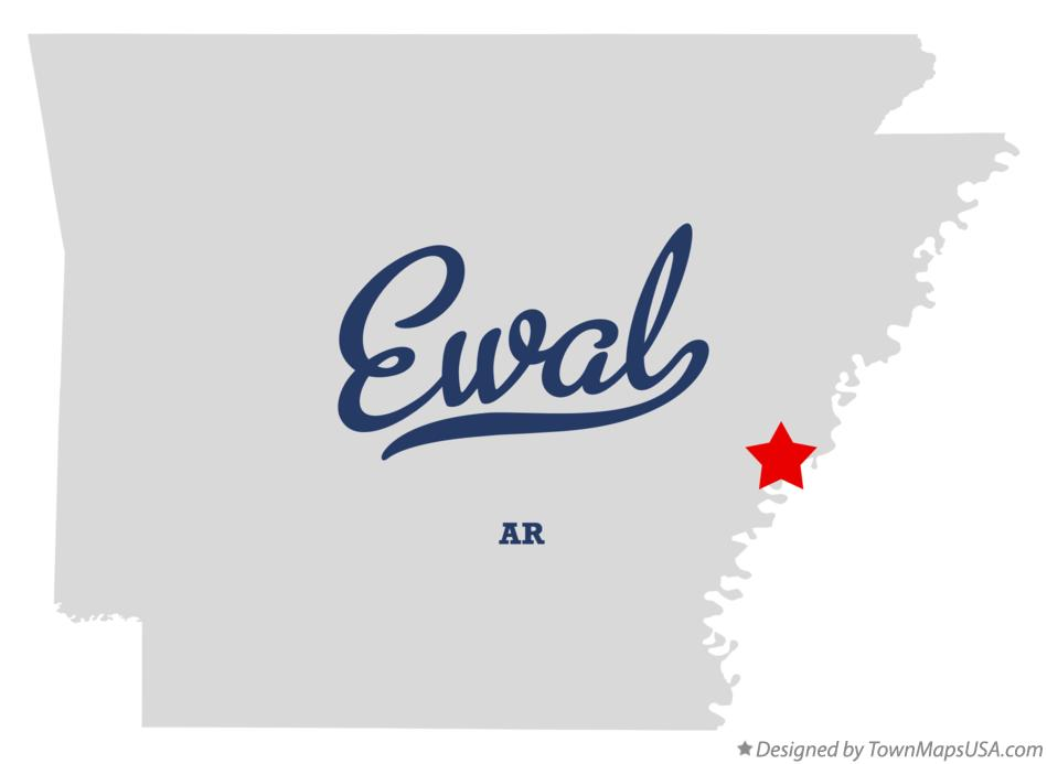Map of Ewal Arkansas AR