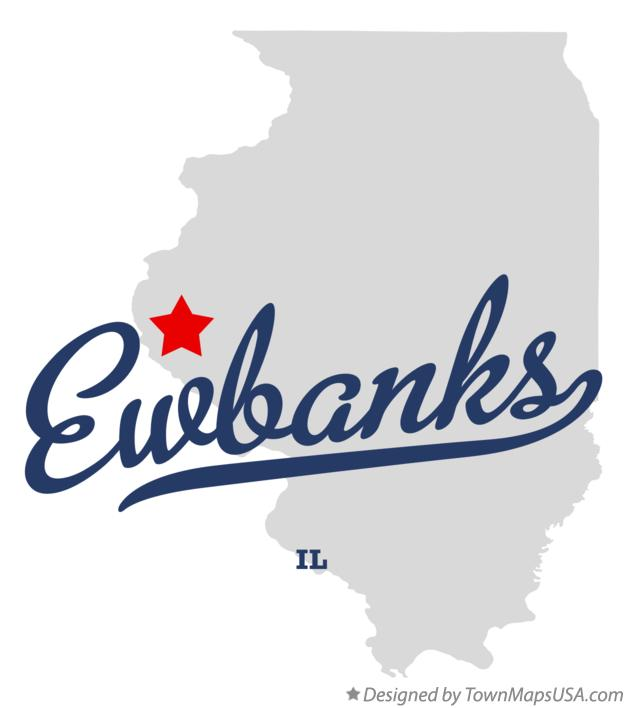 Map of Ewbanks Illinois IL