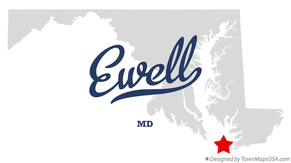 Map of Ewell Maryland MD