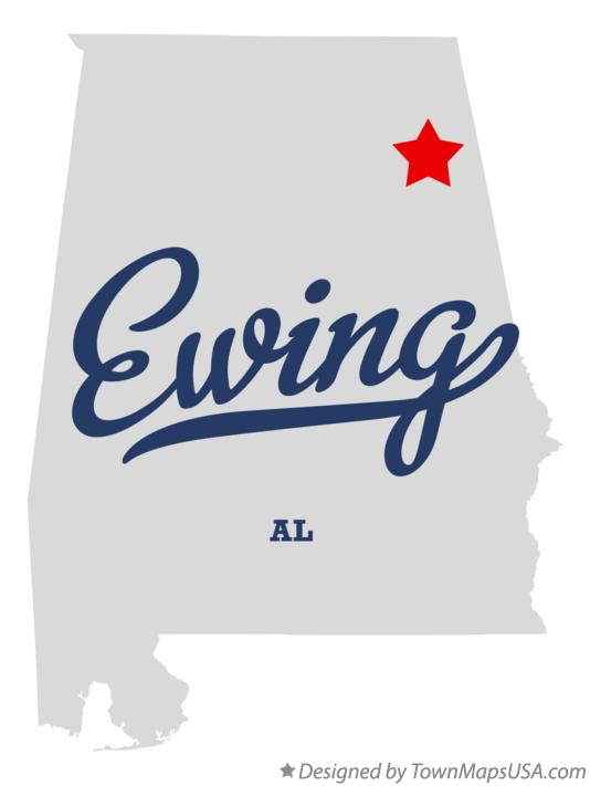 Map of Ewing Alabama AL