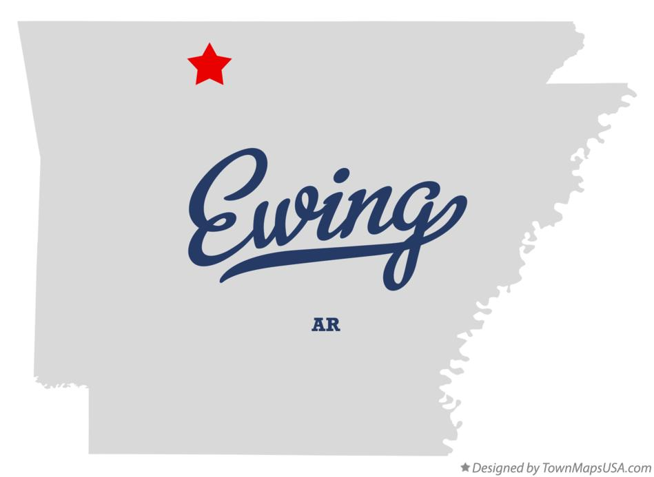 Map of Ewing Arkansas AR