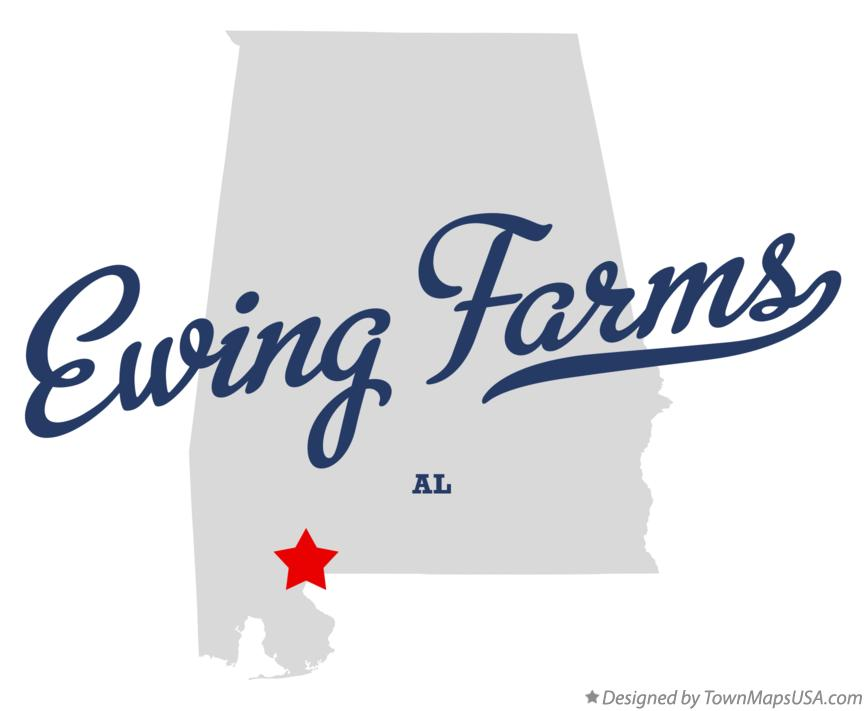Map of Ewing Farms Alabama AL