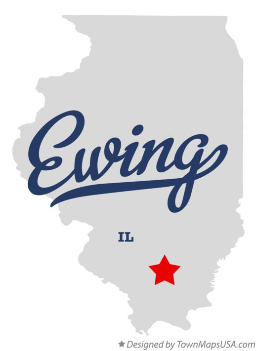 Map of Ewing Illinois IL