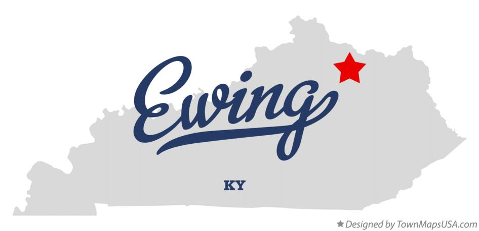 Map of Ewing Kentucky KY