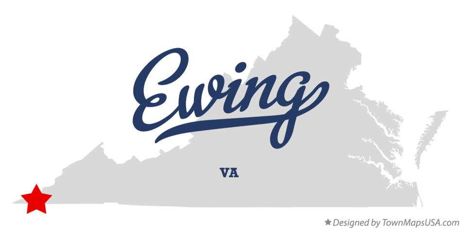 Map of Ewing Virginia VA
