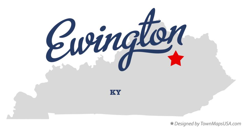 Map of Ewington Kentucky KY