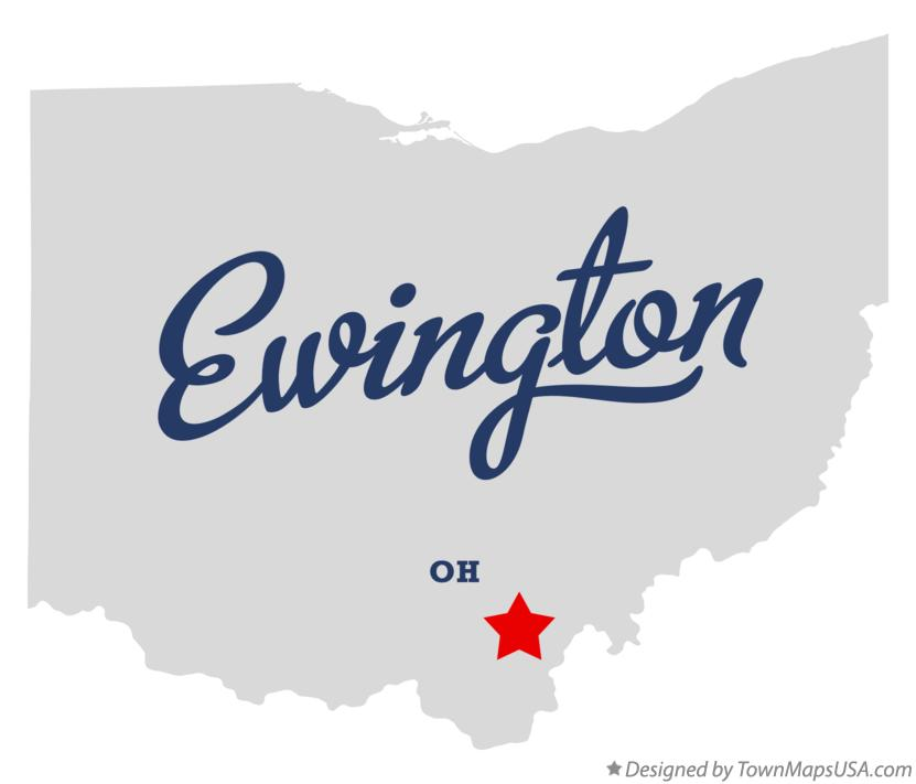 Map of Ewington Ohio OH