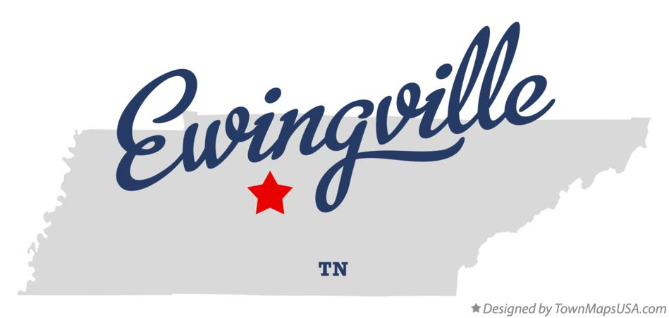 Map of Ewingville Tennessee TN