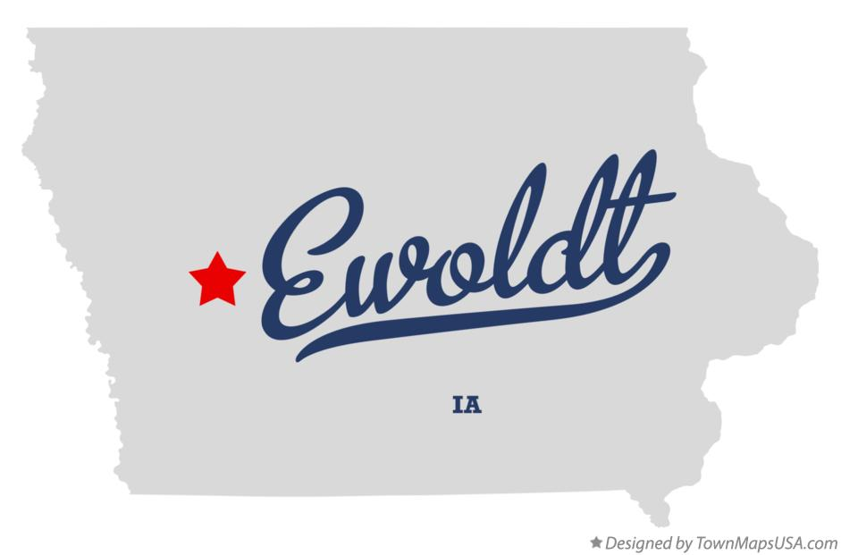 Map of Ewoldt Iowa IA