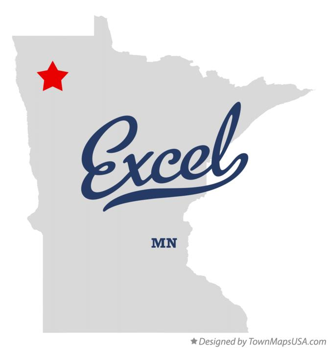 Map of Excel Minnesota MN