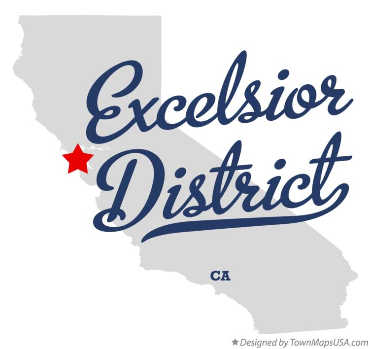 Map of Excelsior District California CA