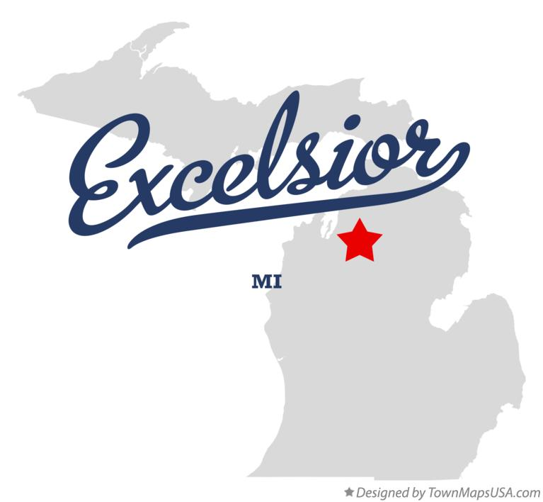 Map of Excelsior Michigan MI