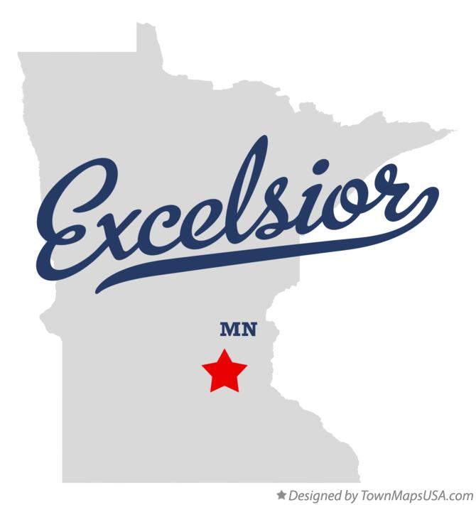 Map of Excelsior Minnesota MN
