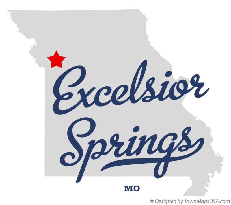 Map Of Excelsior Springs Mo Missouri