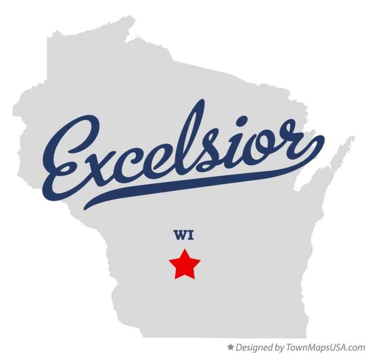 Map of Excelsior Wisconsin WI