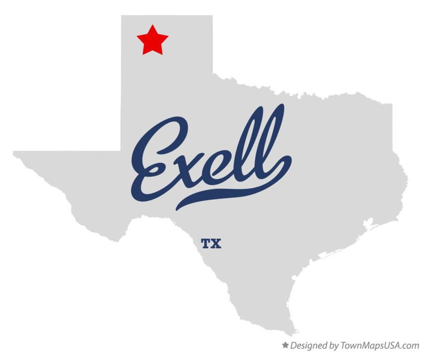 Map of Exell Texas TX