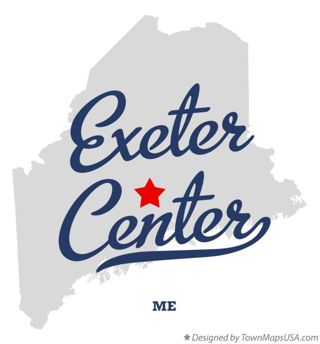 Map of Exeter Center Maine ME