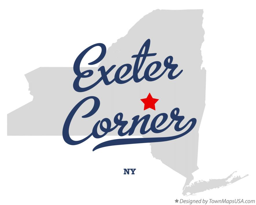 Map of Exeter Corner New York NY