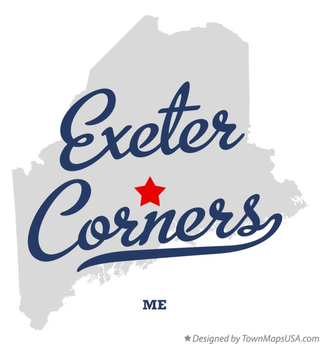Map of Exeter Corners Maine ME