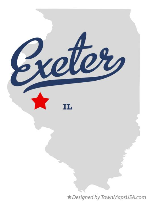 Map of Exeter Illinois IL