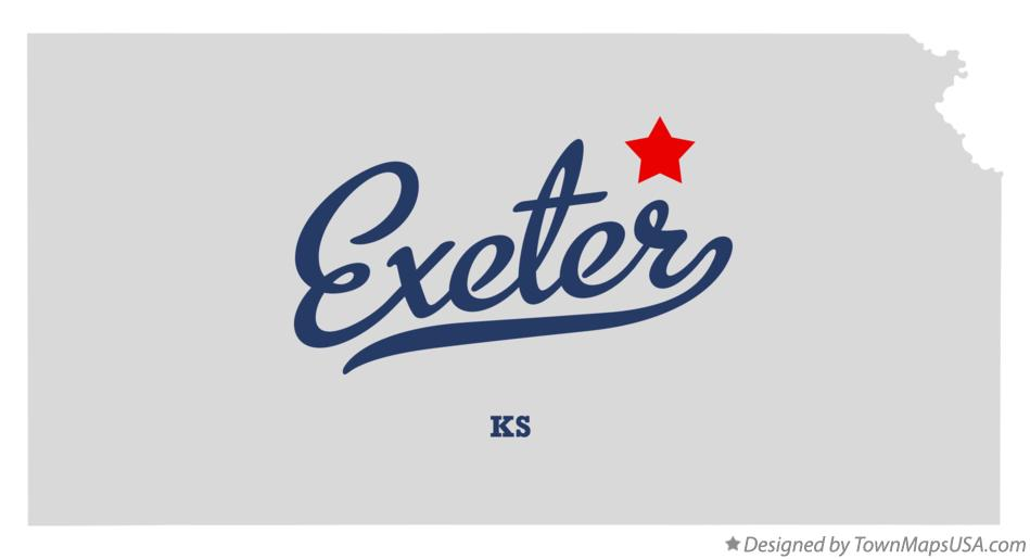 Map of Exeter Kansas KS