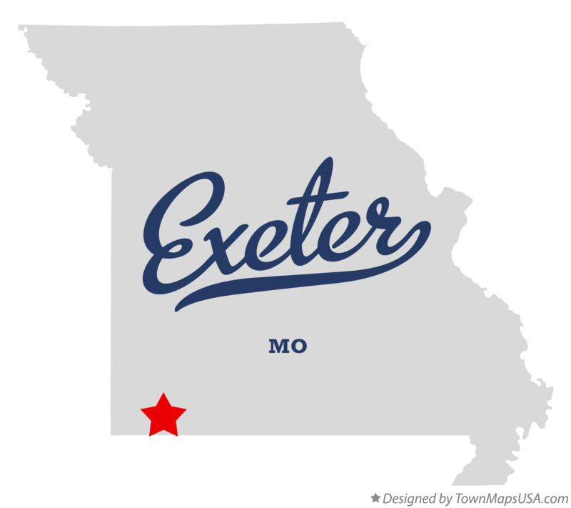 Map of Exeter Missouri MO